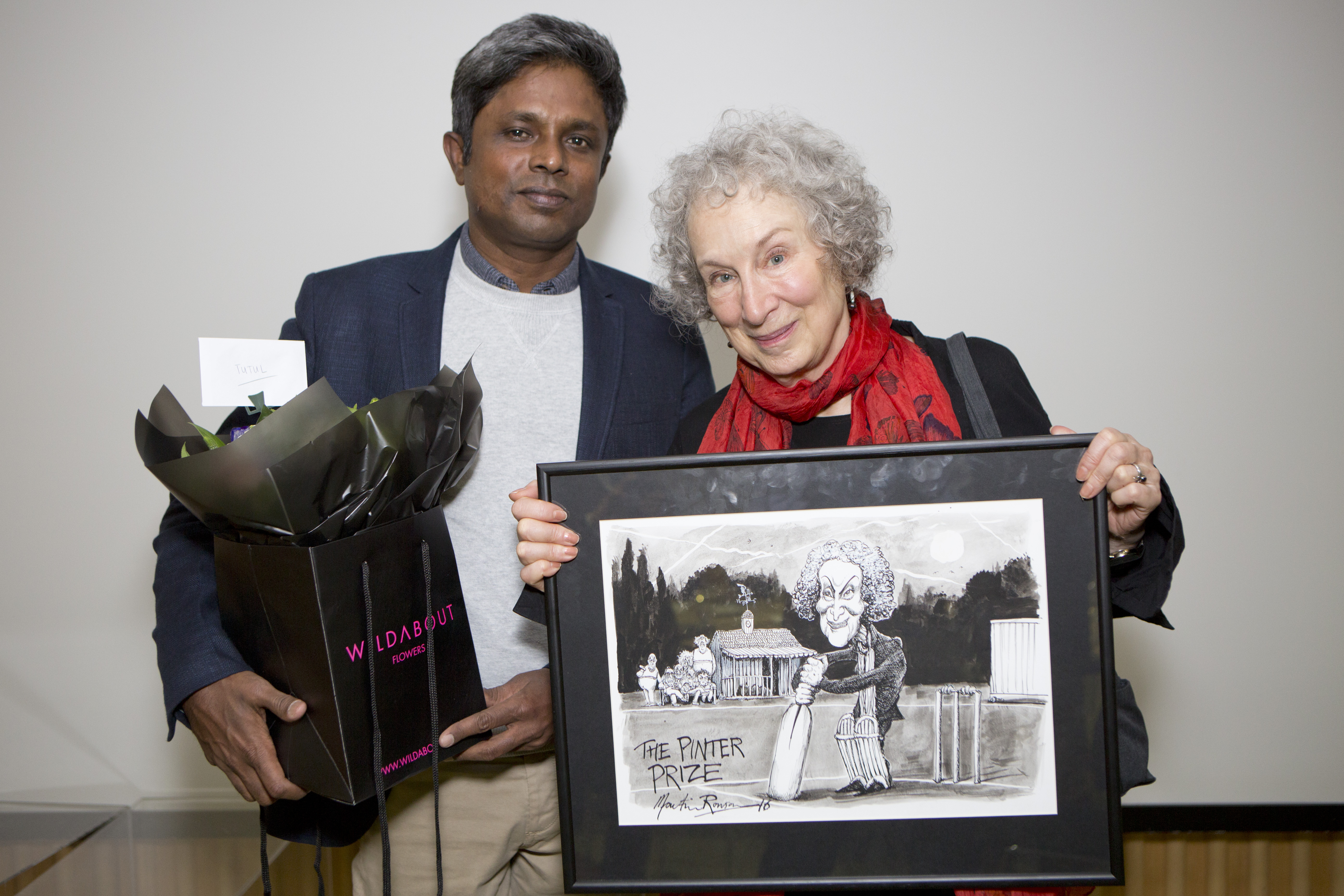 Tutul and Margaret Atwood at the PEN Pinter Prize 2016 ceremony. Photo: George Torode. Photo.