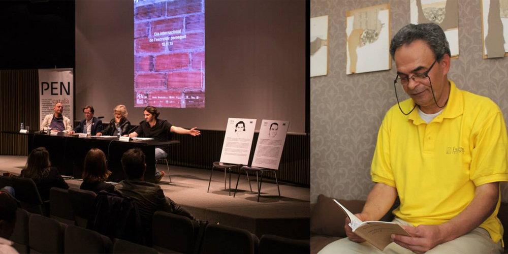 Press conference at MACBA: programme and poster presentation of the Day of the Imprisoned Writer 2015. photo.