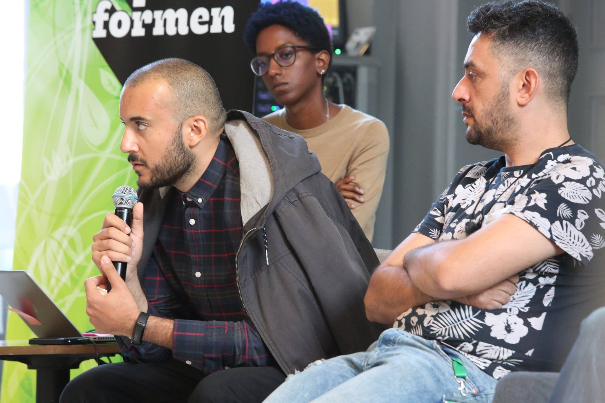 Khaled Harara, Hip-Hop Artist, ICORN artist in residence in Gothenburg 2015-2017. Participated in The Festival Academy August 2018 in Gothenburg. Photo.