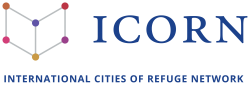 ICORN International Cities of Refuge Network. Logo. Photo.
