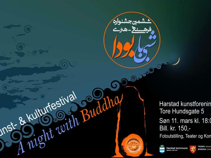 A night with Buddha in Harstad 11 March at Harstad Kunstforening. Photo.