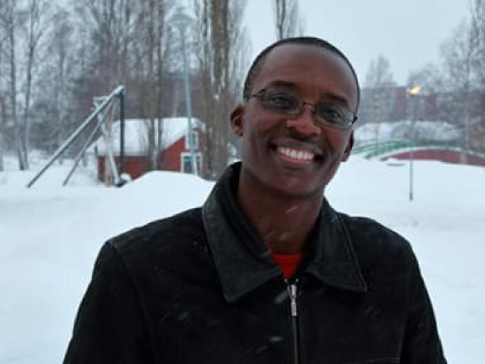 Zimbabwean musician Cris Gera, ICORN resident in Piteå City of Refuge. Photo: Ann-Sofie Boman