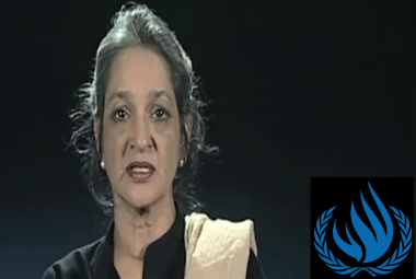 UN Special Rapporteur Farida Shareed. Photo.