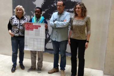 Dessale Berekhet receives International Free Voice Prize. Photo.