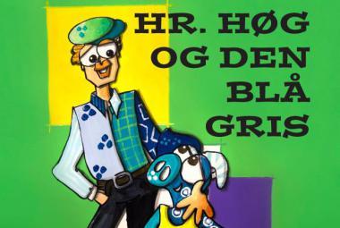 """""""Hr. Høg og den blå gris"""" book cover. Photo"""