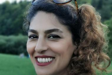 Iranian journalist and human rights defender, Shiva Nazar Ahari in Ljubljana. Photo.