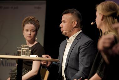 Amanda Lind, Wali Arian and Karin Hansson at Almedalsveckan. Photo: Swedish Arts Council