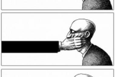 Illustration by Mana Neyestani, ICORN Cartoonist in Paris. Photo.