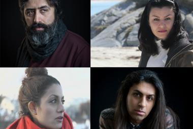 From top left: Mehdi Mousavi, Sahar Bayati. From bottom left: Elahe Rahroniya, Benyamin Farnam. Photo.