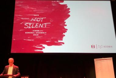 Mike van Graan at ICORN General Assembly 2018, Safe Not Silent. Photo.