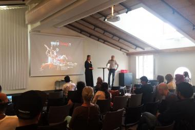 Smart produktionshus Workshop at the The trick to participante and ICORN Sweden alumni and network meeting for artists and writers. Photo.