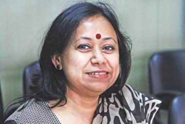 Supriti Dhar. Bangladeshi journalist and women rights activist, in ICORN residency in Norrköping. Photo.