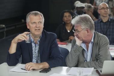 Helge Lunde Executive Director ICORN and Peter Norman Waage, Norwegian PEN