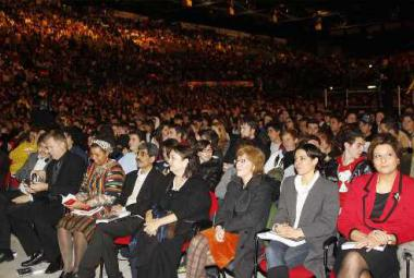 Nelson Mandela Forum audience with guests