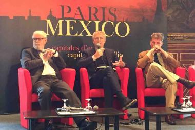 From left: Peter Ripken (ICORN Chair of Board/Frankfurt City of Refuge), Helge Lunde (ICORN CEO), Phillippe Ollè-Laprune (Casa Refugio Citlaltépetl, Mexico). Photo: Jean-Baptiste Gurliat