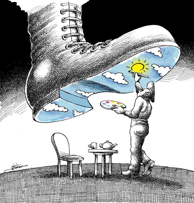 2016 ICORN GENERAL ASSEMBLY. Cartoon by Mana Neyestani. photo.