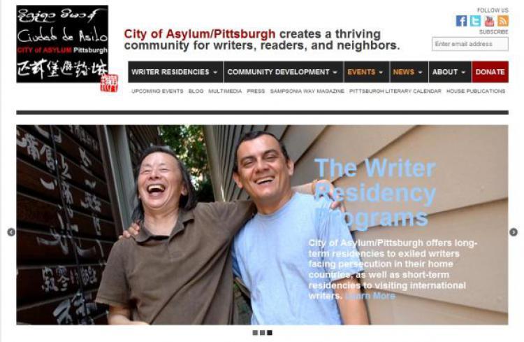 City of Asylum/Pittsburgh. Photo: screenprint. Photo