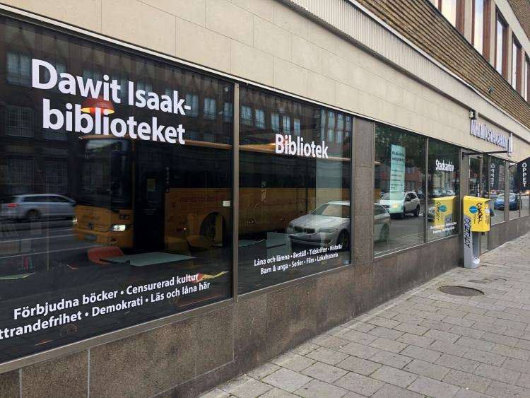 The Malmö City Archives in Sweden opened the Dawit Isaak Libray 15 September 2020, a library of literature written by authors who, due to their vocation, have been subject to censorship, repression and/or forced into exile. Photo.