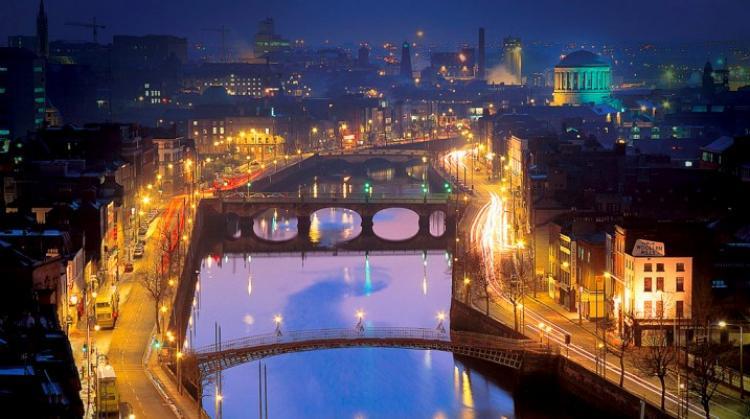 Dublin River Liffey. Photo.