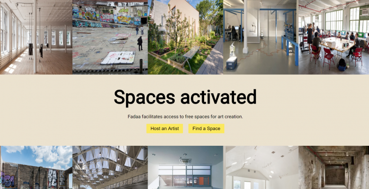 Visit GetFadaa.com, a digital platform for artists that envisions a new economy based on sharing spaces. Photo.