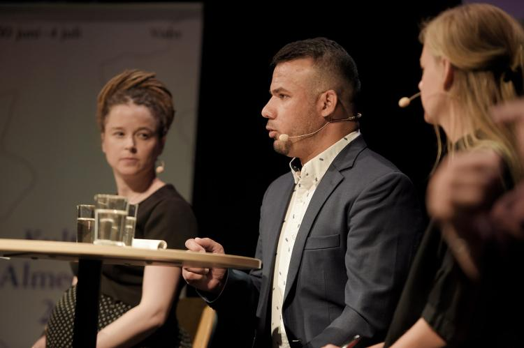 Amanda Lind, Wali Arian and Karin Hansson at Almedalsveckan. Photo: Swedish Arts Council