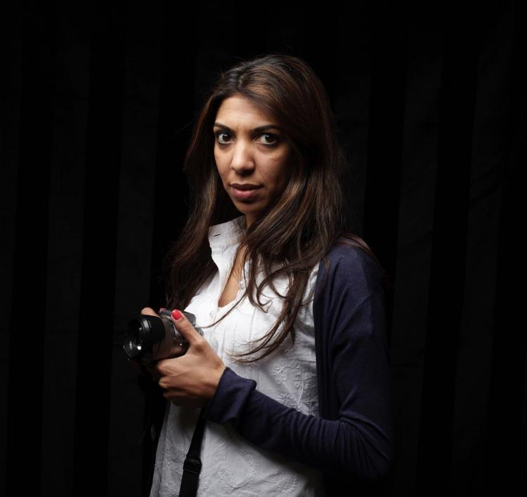 Bahrainian journalist Nazeeha Saeed, in ICORN residency in the City of Paris. Photo.