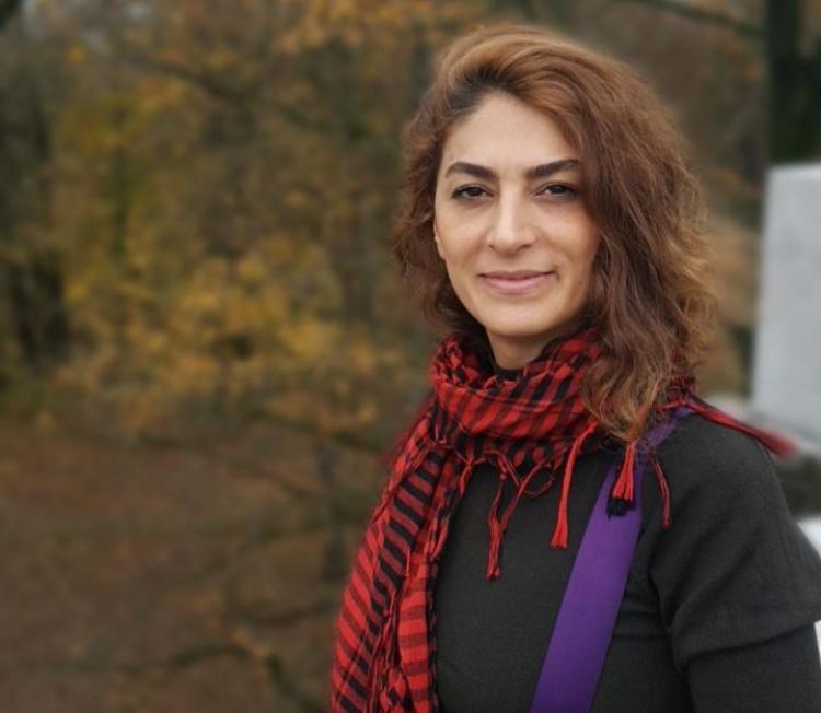 Iranian journalist and human rights defender, Shiva Nazarahari in Ljubljana. Photo.