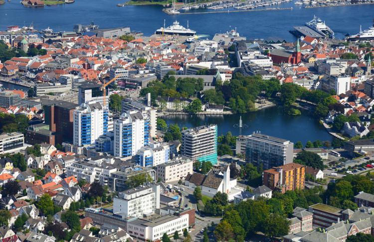 Stavanger center Photo: Harald M Valderhaug