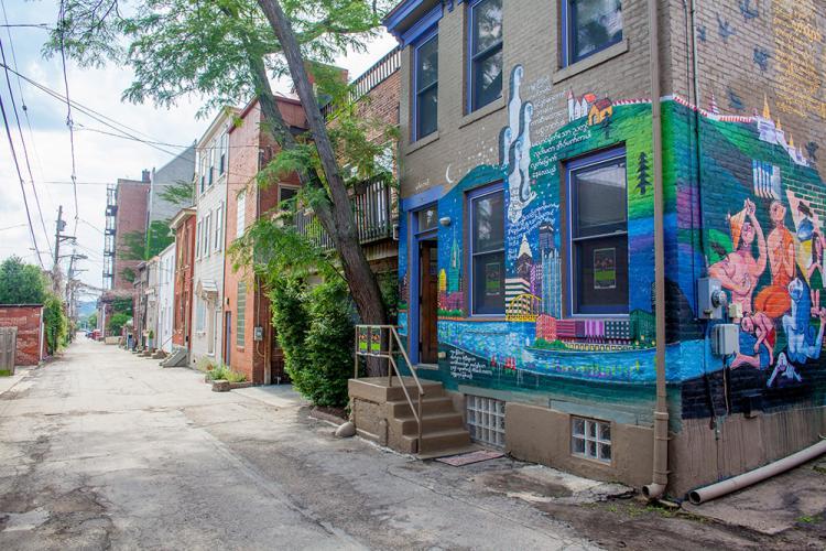 Sampsonia Way in City of Asylum/Pittsburg. Photo.