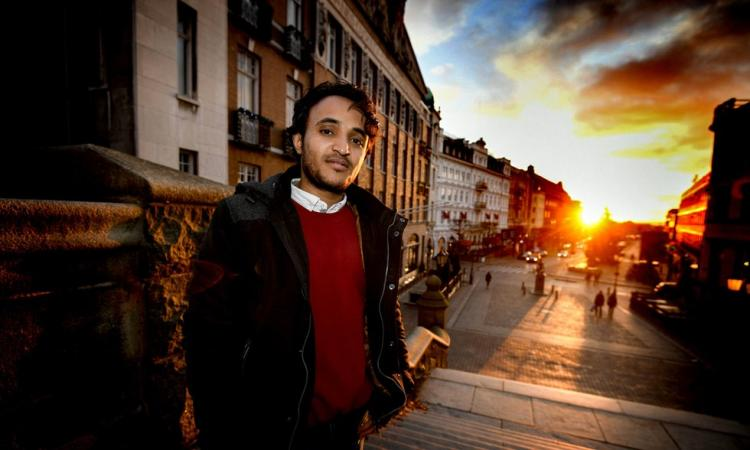 Abduljabbar Alsuhili, actor, screenwriter and director from Yemen is first ICORN writer-in-residence in Helsingborg. Photo: Sven-Erik Svensson. Photo.