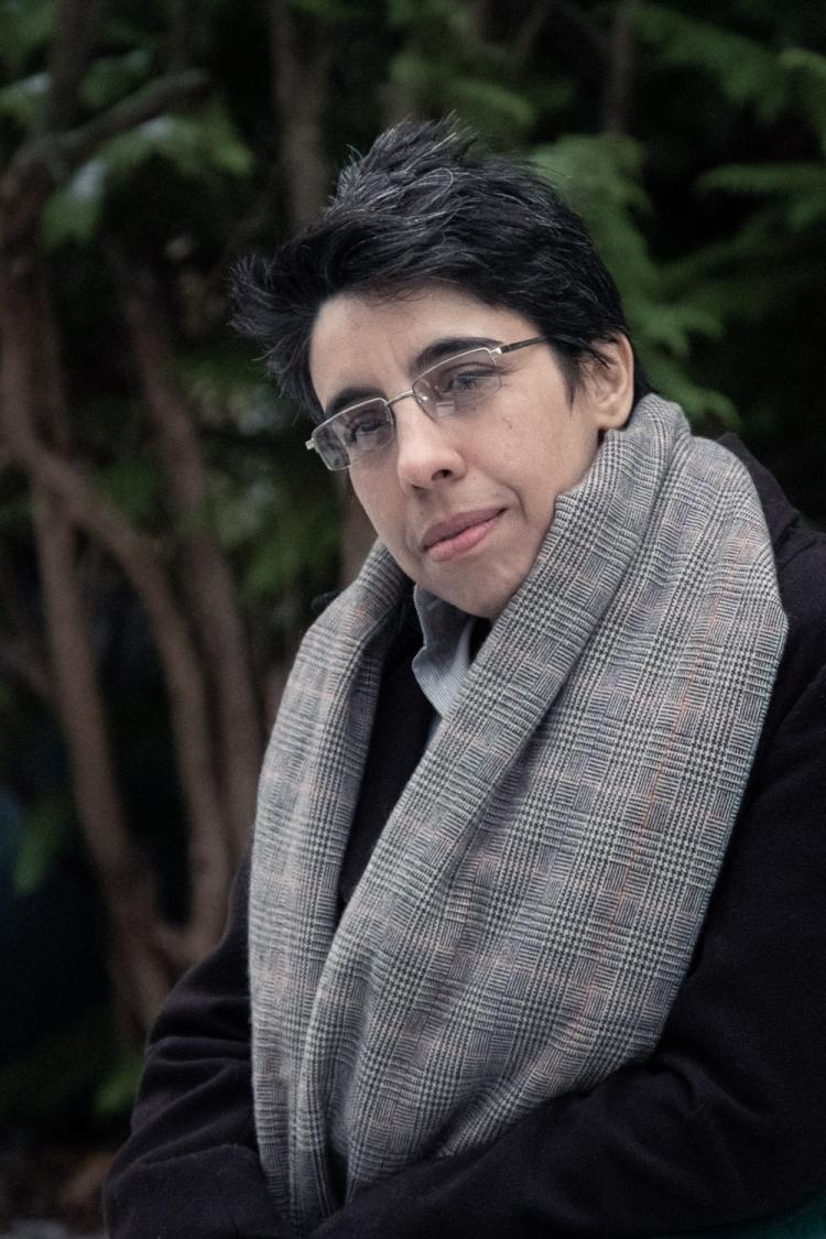 Poet and journlist Nada Al Khawwam, ICORN residency in Berlin 2018-2020. Photo.