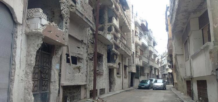From the neighbourhood in Homs, Syria, where Amani Lazar used to live until recently. Photo.