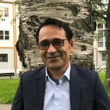 Afghan scholar writer and scholar Hafizullah Shariati. ICORN writer in residence in Levanger 2019-2021. Photo.