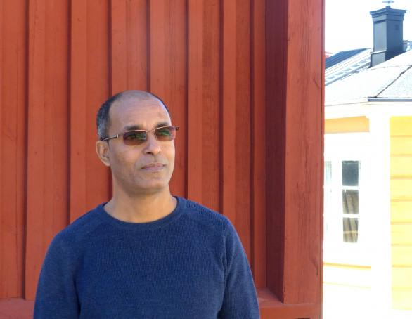 Eritrean journalist and author, Tesfagiorgis Habte Kelati, in Luleå City of Refuge. Photo.